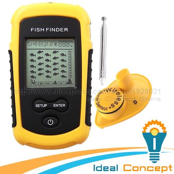 ФОТО FFW-1108-1 LUCKY Wireless Fish Finder Sonar Fishfinder 40m Depth Range Ocean Lake Sea Fishing