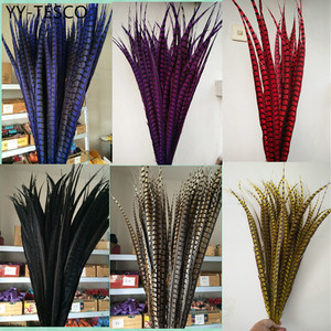 Image 1 - 50pcs 28 32 inche/70 80cm natural Lady Amherst Pheasant Feather pheasant feathers for carnival party costumes cosplay decoration