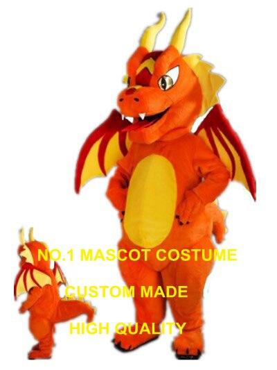 Fiery dragon costume della mascotte formato adulto new custom orange fire dragon dino dinosaur tema anime cosplay costumi di carnevale 2978