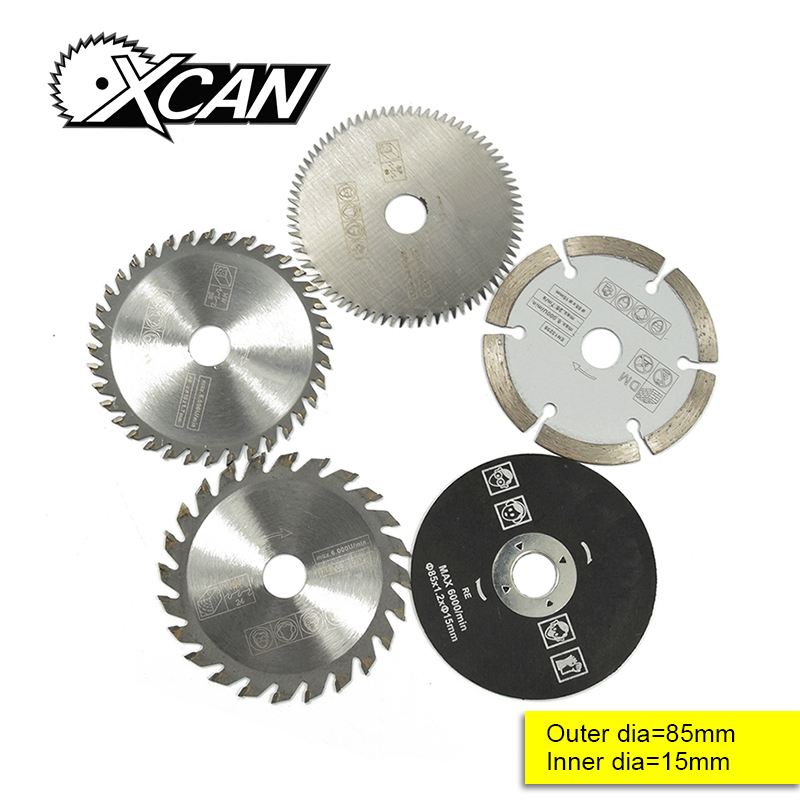 5 Pcs 85mm Electric Mini Circular Saw Blade Wood Saw Disc Wood Cutting Saw Blade Fit Dremel Power Tools