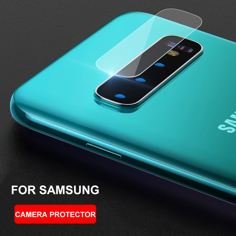 Lens protective tempered glass for Samsung Galaxy S10 Plus S10e S9 Note 8 9 S8 A7 A9 2018 J6 Plus camera Lens protector HD film(China)