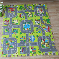 Baby Traffic Route Puzzle Play Mat Children Educational Split Joint EVA Foam Crawling Pad Game Carpet