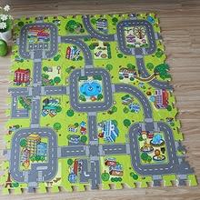 Pos Llwybr Traffig Babanod Chwarae Mat Plant Rhaniad Addysgol Addurno EVA Ewyn Crawling Pad Gêm Carped Kids Toys Gift Rug Playmat