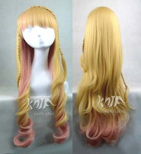 New arrival Macross F hair accessories 380g 85cm synthetic hair jewelry for Sheryl Nome cosplay wigs