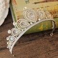 Роскошный полный горный хрусталь корона свадьбы невеста головной убор оголовье Барокко короны аксессуары для волос павлин диадемы