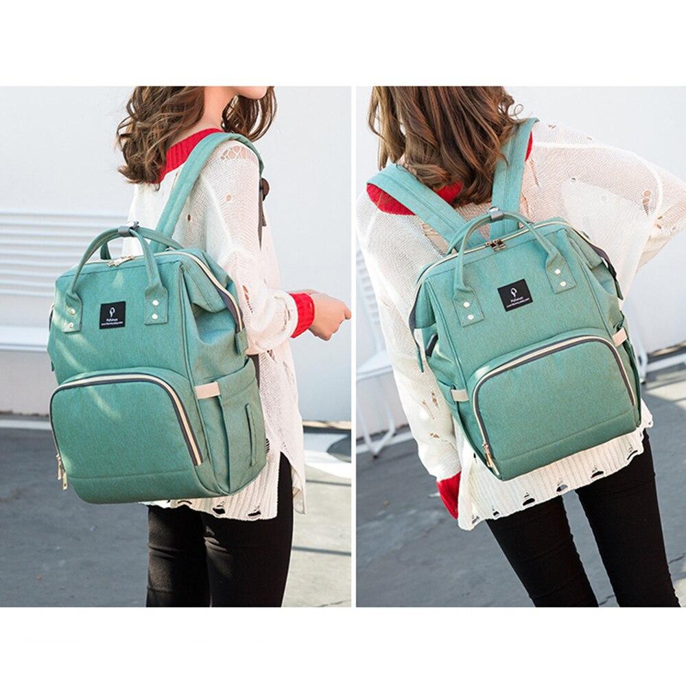 HTB1b8adbzDuK1Rjy1zjq6zraFXa5 Baby Diaper Bag With USB Interface Large Capacity Travel Backpack Nursing Handbag Waterproof Nappy Bag for Baby Care with 2 Hook
