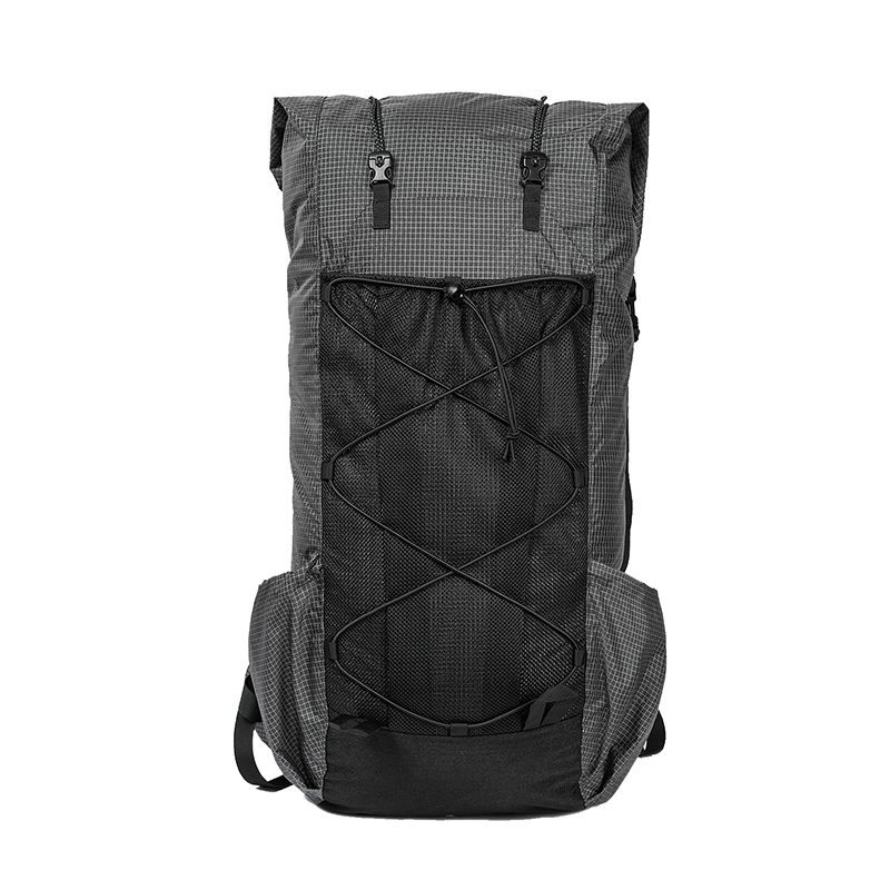 BLACK ORCA Camping Bag Tubular 55L+ Ultralight Ripstop Nylon Backpack LITE ROAMER Roll-up UL Rucksack