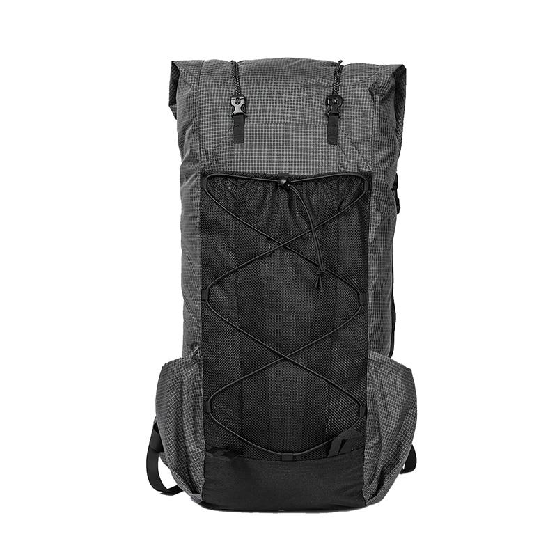 Sac de Camping noir ORCA tubulaire 55L + sac à dos ultraléger en Nylon Ripstop LITE sac à dos rouleur UL