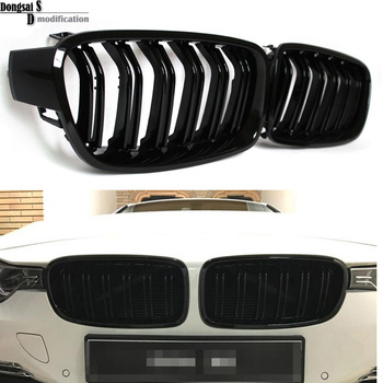 1 Pair F30 Car Styling Grill M3 Style F31 Kidney Black Replacement Grille For BMW F30 F31 2012+ 320i 325i 328i 335i Gloss Black Гриль