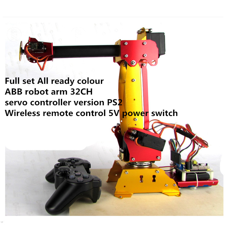 ABB 6 DOF robot arm LB colour Industrial robots scaled model Full Metal Digital Servos Programmable for DIY Mechanical arm lucide coral 61452 40 31