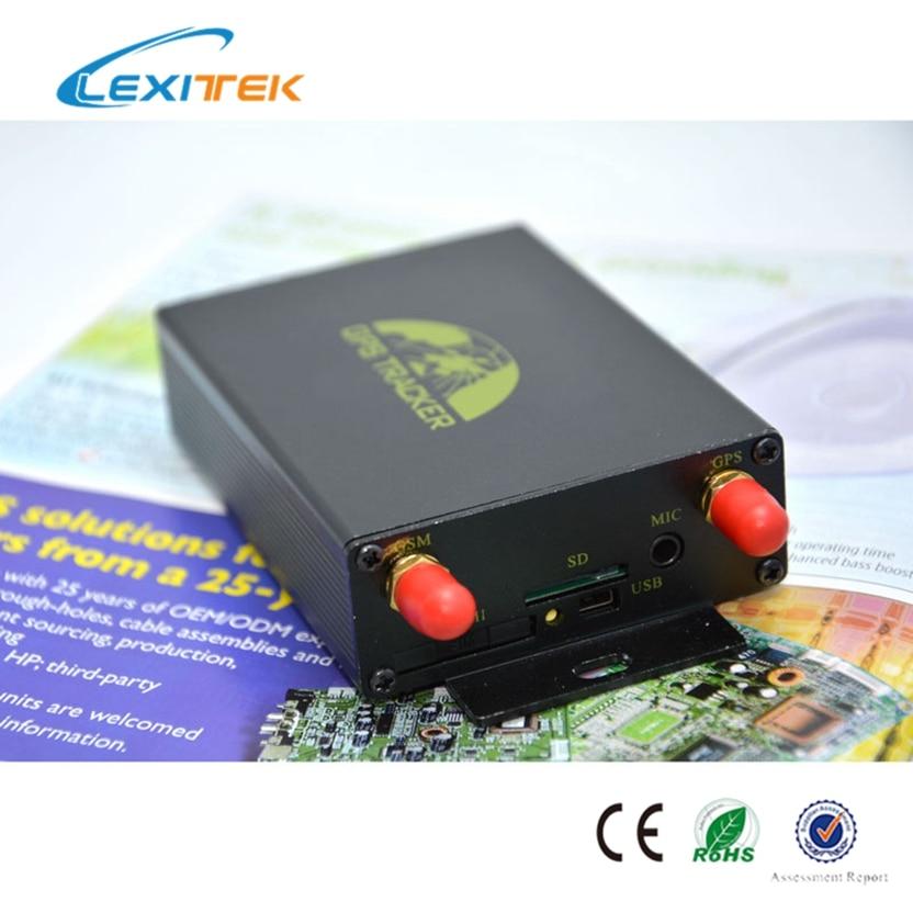 Traqueur gps double sim Lexitek original coban GPS105A avec capteur de secousse de sirène relais de système de verrouillage central en option