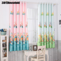 Printed Short Window Curtain Customize Curtains For Children Room Dedicated Cartoon Boy Girl Living Bedroom