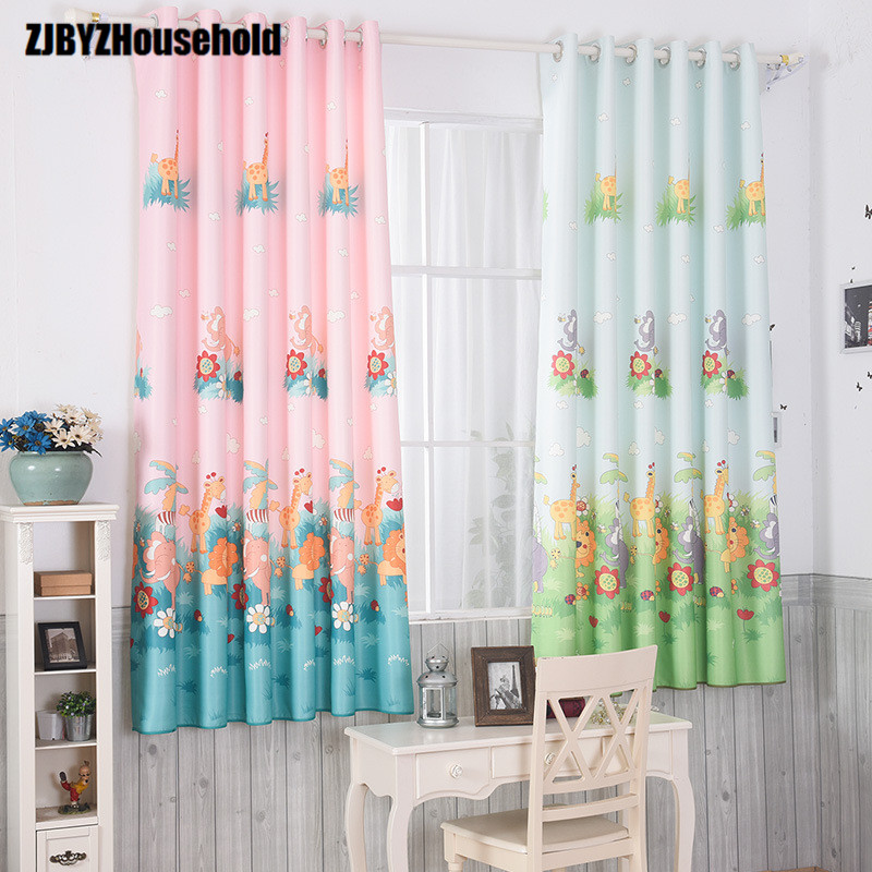 imprim courte fentre rideau personnaliser rideaux pour la chambre des enfants de bande dessine ddie garon fille vivant chambre