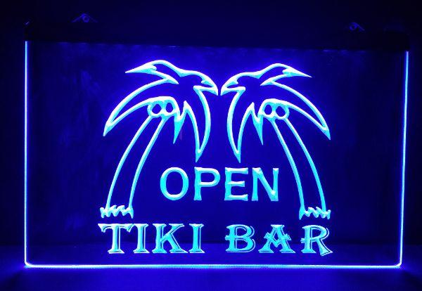 B 176 tiki Bar open beer bar pub club 3d signs LED Neon