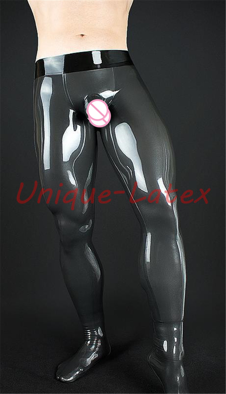 Latex Trousers With Penis Sheath Anus Condom  Customized