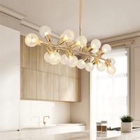 Modern Gold Living Room Bedroom Minimalist Restaurant Pendant Light Nordic Decoration Glass Ball Pendant Lamp
