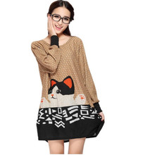 L-5XL plus size new winter Autumn women casual long-sleeve Sweaters tops loose tiger Floral print  pullover loose tunic