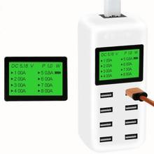 USB мульти зарядное устройство s, 8 портов USB зарядное устройство адаптер, мульти порт USB зарядное устройство порт с QI Проводная прокладка и умная IC технология