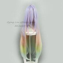 Cosplay wig No game no life Shiro Cosplay Wig Multicolour Synthetic Hair 100cm Long  Anime Cos Wigs
