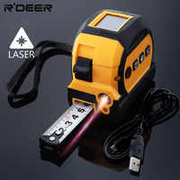 Laser Rangefinder 40m Laser Distance Meter 5m Tape Measure Retractable Metre & Inch Measuring Tape with Backlit Display Screen