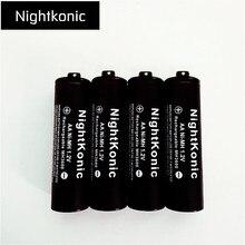 4 PCS/LOT aa battery NightKonic 1.2V NI-MH AA Rechargeable Battery BLACK