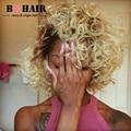 BQ 8A PELO de Visón Blonde Encaje Frontal 360 con 2/3 Bundles Peruca Hiar Onda Del Cuerpo Humano Indio Del Frente Del Cordón de # 1b/613 Moda Color