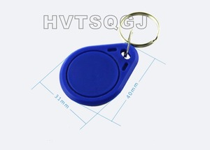 Free shipping 500pcs t5557 keychain card heterosexual card t5557 card keychain card,125KHZ