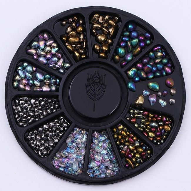 Смешанный цвет камень-хамелион Стразы для ногтей маленькие Необычные бусины Маникюр 3D дизайн ногтей украшения в колесиках аксессуары - Цвет: Pattern 1