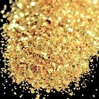 Wholesale DIY Nail Art Glitter Powder Fashion Gold Mixed Size Nail Polish Glitter Dust Artificial Manicure