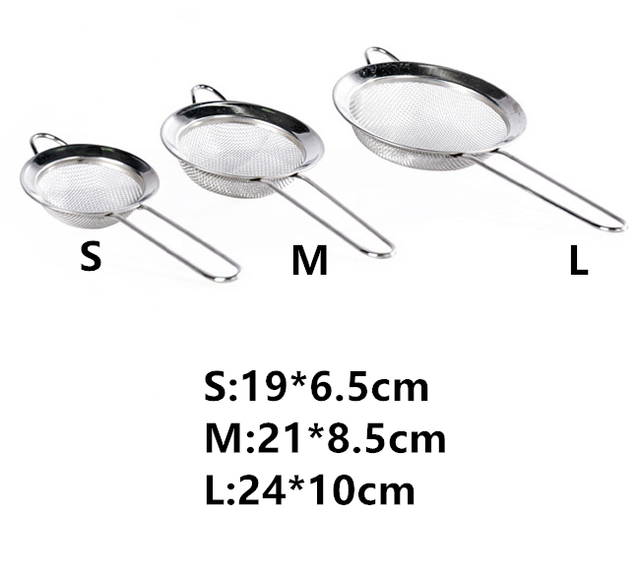 3pcs Stainless Steel Strainer Set