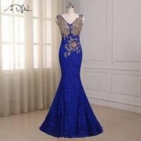 New Sexy Deep V Neck Vestido Longo 2015 Cap Sleeve Floor Length Mermaid Long Evening Dress