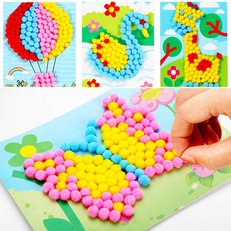 Detail Feedback Questions About Child Toy Diy Paper Painting Sticky