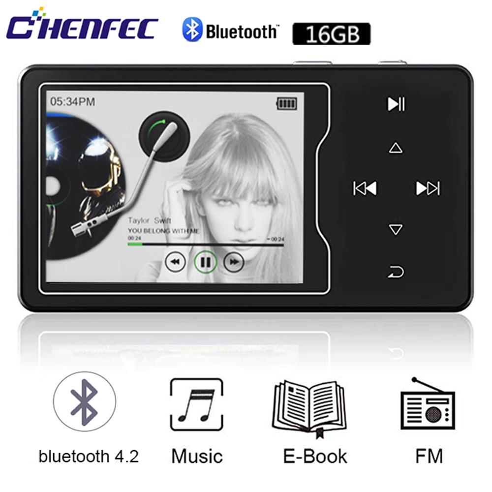 Lecteur MP4 Chenfec-C03 16 GB bouton tactile haut-parleur intégré avec écran couleur 2.4 pouces lecteur vidéo sans perte avec FM, enregistrement vocal