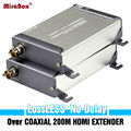 Одна Пара HDMI Extender По Коаксиальному Кабелю Без Потерь Не задержки до 600 футов/фут Поддержка Full HD HDMI Сигнала Transimission