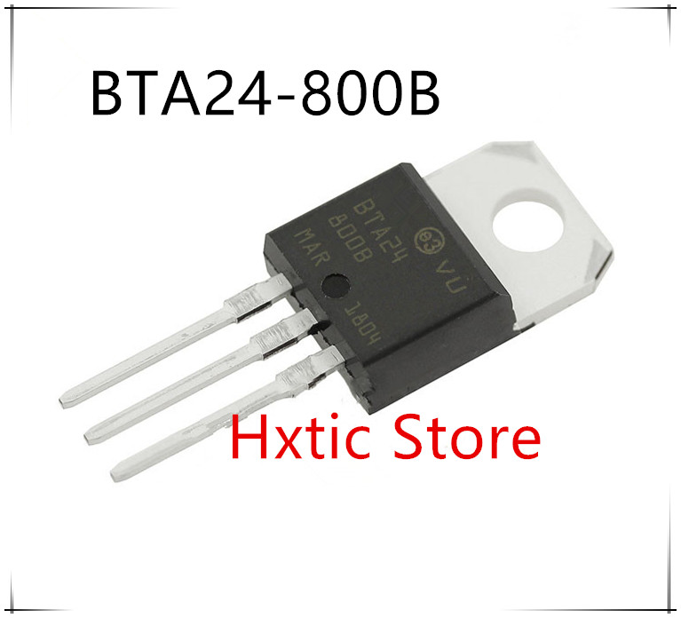 10pcs BTA24-800B BTA24 BTA24-800 Triacs 25 AMP 800 VOLT TO-220 New Original IC