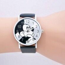 Cartoon Fashion Mouse watch women unisex Leather quartz wristwatch For Children watches Boy Girl Favorite gift Relogio Feminino
