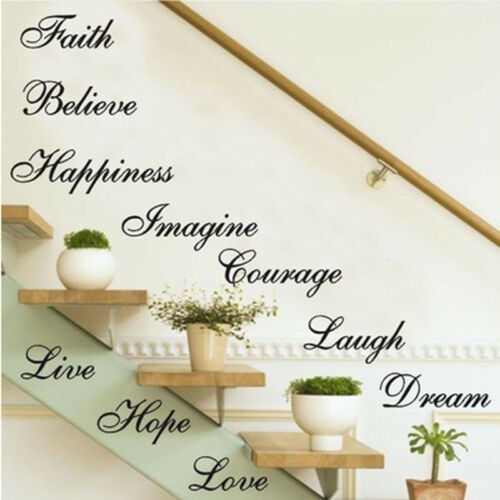 Image 3 - Stairs Decors Wall Art Quote Removable Stickers Vinyl Decals Home Decor US-in Wall Stickers from Home & Garden