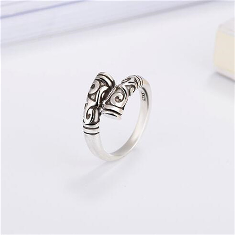 SHNCA Brand New Vintage Geometric Clouds Pattern 925 Sterling Silver Rings For Women Men Punk Unice Ring Anel Masculino Y036 ...