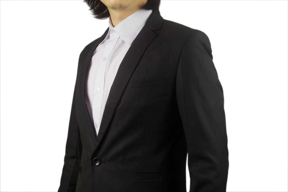 Aliexpress.com : Buy Kingsman Gentleman Twill Black Suit Jacket ...