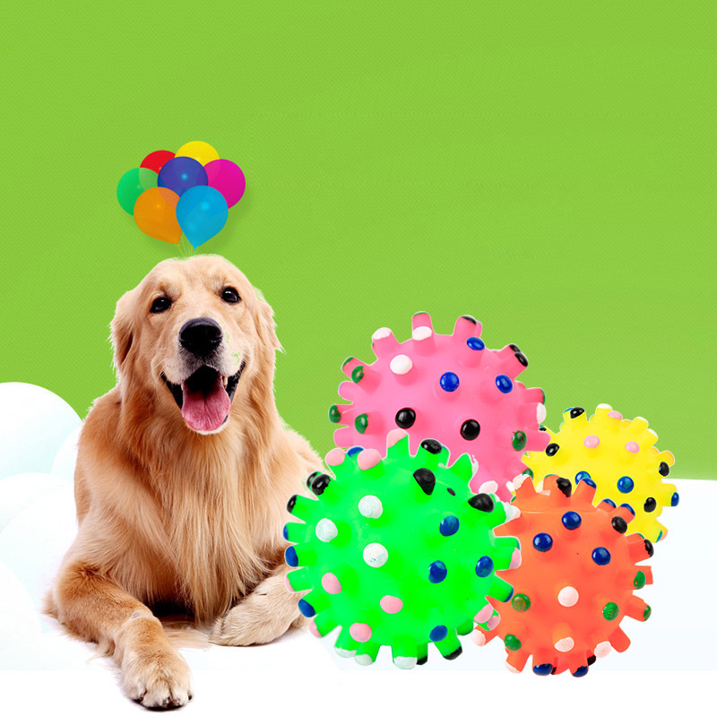 3Pcs Colorful Dog Toys Squeakey Toy Ball Chew Sound Ball Pet For Small Medium Dog Pet Teeth Training Dog Games Pet Product