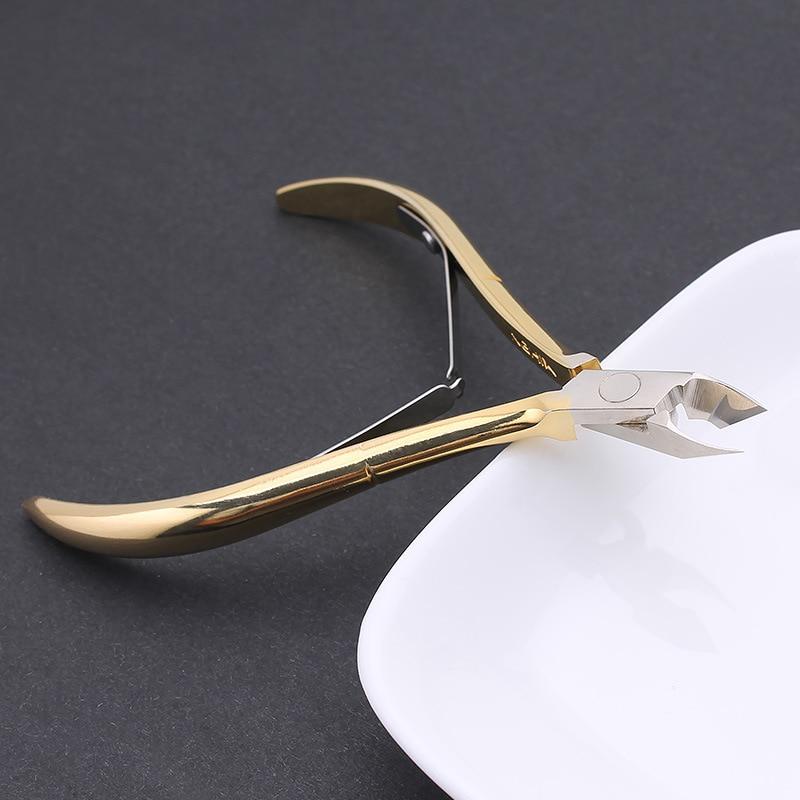 Cuticle Scissors Toenail Cuticle Nipper Trimming Stainless Steel Nail Clipper Cutter Cuticle Scissor Plier Manicure Tool
