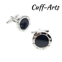 Cufflinks for Men Round Onyx Semi-stone Mens Cuff Jewelery Gifts Vintage by Cuffarts C20181