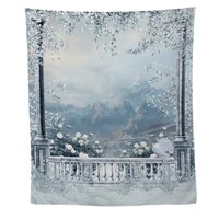 Winter Balcony View Wall Tapestry