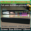 "HD P3 RGB LED display panel, Indoor full color LED Advertising signs ,H5.5"" x W32"" (256Pixel*32Pixel)"