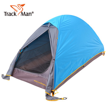 Trackman TM1206 (210+70)*100*110cm Single Person Outdoor Camping Ultralight Waterproof Windproof Aluminum Pole Double Layer Tent