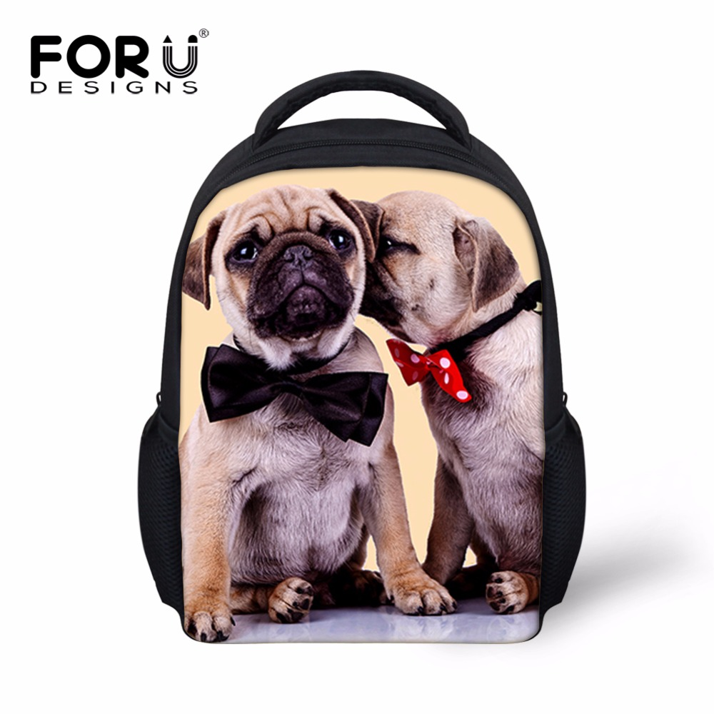 School bag for year 7 - Cute12 Inch 3d Animal Kids Schoolbags Cat Dog Printing Baby Boy Girls Mini Book Bags 2