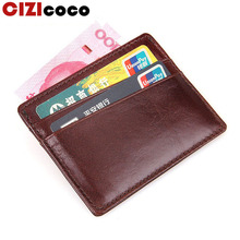 New Genuine Leather Men Credit Card Holder Slim Wallet Luxury Card Holder Brand Business Card Id Holder Case