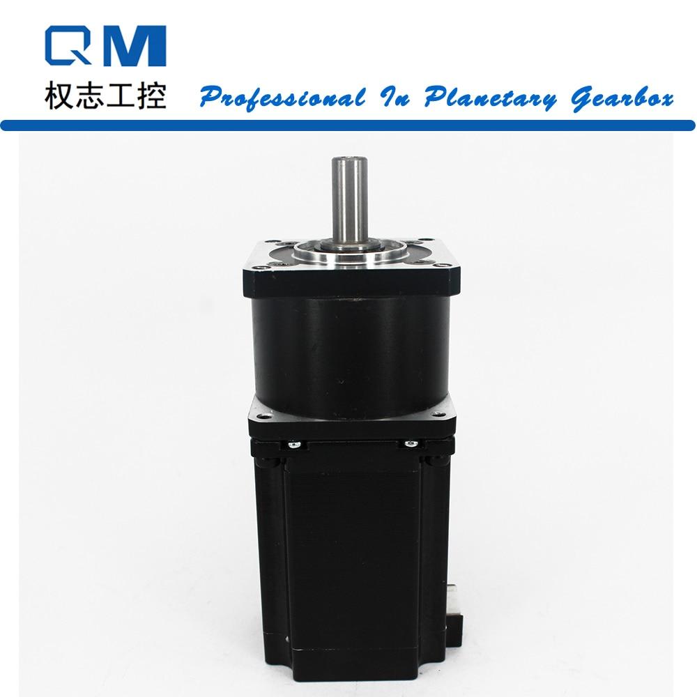Нема 23 Мотор шаговый двигатель L = 77 мм планетарный редуктор соотношение 10:1 ЧПУ робот насос