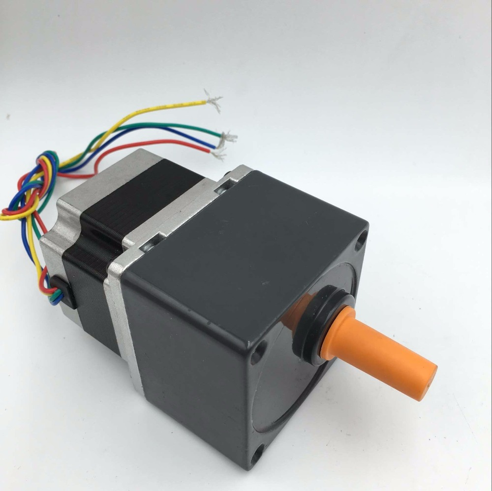 Nema23 Gearmotor Ratio 5:1 L41mm 2A Stepper Motor 0.55Nm Speed Reducer CNC Router Engraver planetary geared stepper motor nema23 ratio 50 1 motor l112mm 4 2a 4 wire speed reducer cnc router engraver