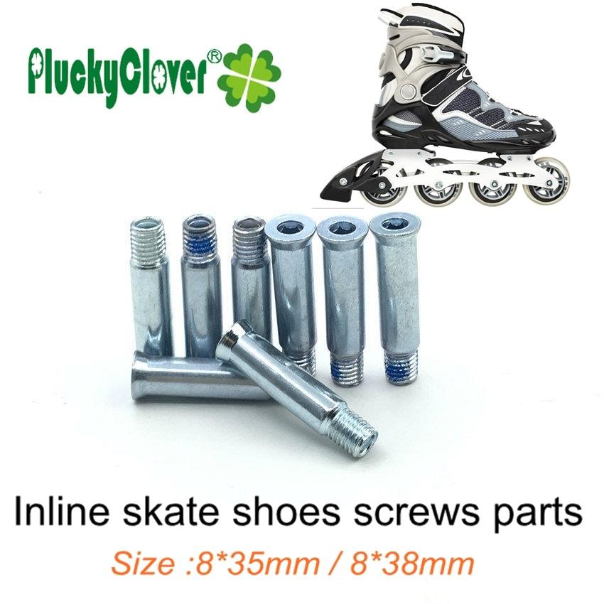 3*Skate Wheel Bolts Screw Rod and Nut Inline Roller Axles Blades Screws 2018